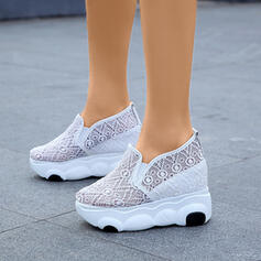 Women's Lace Casual Outdoor Athletic With Elastic Band shoes