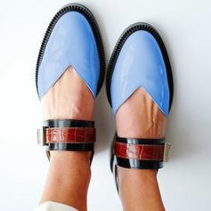 Donna PU Senza tacco Ballerine con Fibbia scarpe