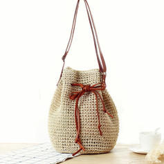 Braided Polyester Shoulder Bags/Beach Bags/Bucket Bags