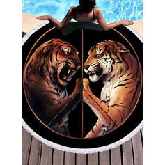 Motif Tigre Énorme/rond serviette de plage