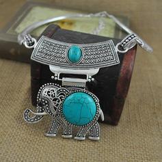Beau À la mode Exotique Alliage Turquoise Unisexe Colliers