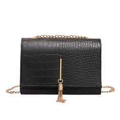 Elegant/Fashionable/Commuting PU Crossbody Bags