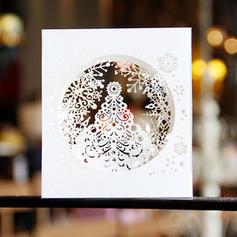 Feliz Navidad 3D Con sobre Papel Para Tarjetas Tarjetas de felicitación Postales Invitaciones Copo de nieve