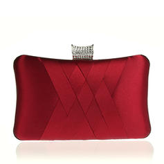 Elegant Satin Clutches/Wristlets/Satchel/Bridal Purse/Fashion Handbags/Makeup Bags/Luxury Clutches