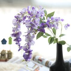 Wisteria Tissu synthétique Fleurs en soie ( ensemble de 3)