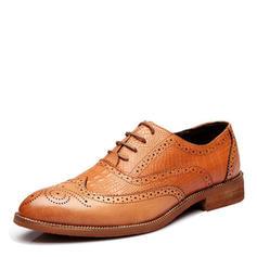 df98bcacf7dc Blondér Brogue Pæne sko Microfiber Læder Mænd Oxfords til Herrer ...