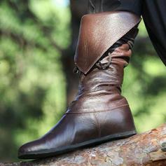PU Lapos sarok Csizma -Val Cipzár cipő