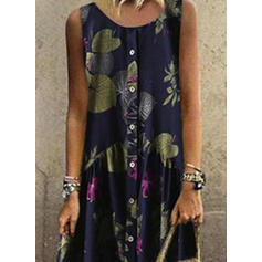 Print/Floral Sleeveless Shift Casual/Boho/Vacation Maxi Dresses