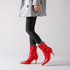 Жіночі Шкіра Шпилька Бокові черевики з Блискавка взуття
