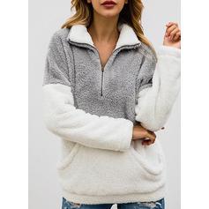 Polyester Color Block Sweatshirt