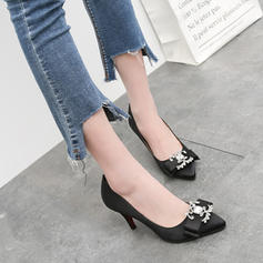 Women's Silk Like Satin Stiletto Heel Pumps With Rhinestone Bowknot shoes