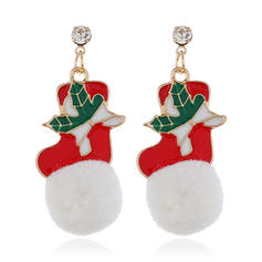 Unique Alloy With Rhinestone Earrings Christmas Jewelry