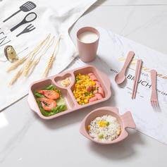 Solid Plastic Dinnerware Sets (Set of 6)
