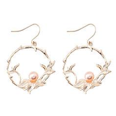 Beau Alliage De faux pearl avec Perle d'imitation Femmes Boucles d'oreille de mode
