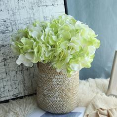 Hydrangea Synthetic Fabric Silk Flowers (Set of 2)