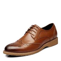 Lace-up Brogue Pantofi rochie Microfibră din piele Bărbaţilor Oxfords de barbati