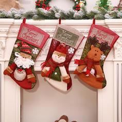 Craciun Fericit Om de zapada Ren Moș Crăciun Agăţat Sacosa de cadou Cloth Decor de Crăciun Ştrampi
