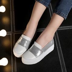 Kvinnor Konstläder Kilklack Stängt Toe Kilar med Split gemensamma skor