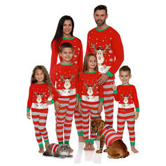 Deer Stribe Familie Matchende Jul Pyjamas