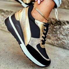 Femmes PU Autres Chaussures plates Tennis avec Dentelle Couleur d'épissure chaussures