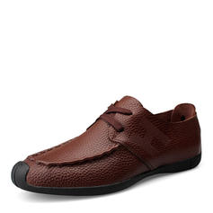 Lace-up U-Tip Casual Real Leather Men's Men's Oxfords