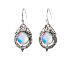 Chic Boho Alloy Resin Women's Earrings 2 PCS