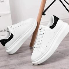 De mujer PU Casual al aire libre con Lentejuelas Cordones zapatos