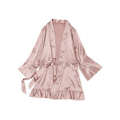 Polyester Ruffles Robe