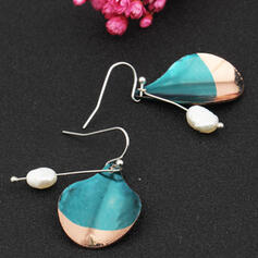 Exotic Boho Alloy With Imitation Pearl Earrings 2 PCS
