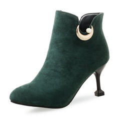 Femmes Suède Talon bobine Escarpins Bout fermé Bottes Bottines avec Autres chaussures