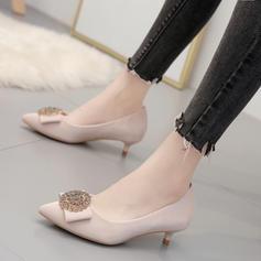 Women's PU Stiletto Heel Low Heel Pumps With Buckle shoes