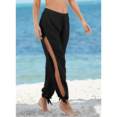 Solid Color Knotted Casual Boho Bottoms Swimsuits