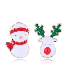 Snowman Alloy Earrings Christmas Jewelry