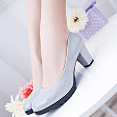 Women's PU Chunky Heel Pumps shoes