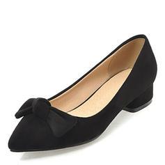 De mujer Ante Tacón bajo Salón Cerrados con Bowknot zapatos