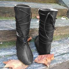 Dámské PU Placatý podpatek Boty S Šněrovací obuv