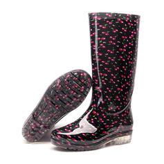 Frauen PVC Niederiger Absatz Stiefel Kniehocher Stiefel Regenstiefel mit Andere Schuhe