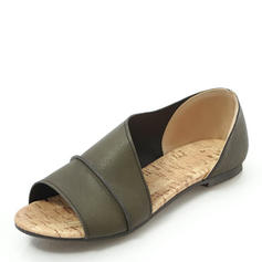 Femmes PU Talon plat Sandales Chaussures plates chaussures
