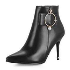 Femmes PU Talon stiletto Escarpins Bottes avec Boucle chaussures