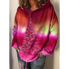 Wydrukować Las Długie rękawy Świąteczna bluza