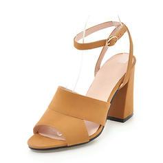 Femmes Suède Talon bottier Sandales Escarpins À bout ouvert Escarpins avec Autres chaussures
