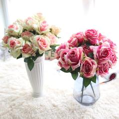 Rose Synthetic Fabric Silk Flowers