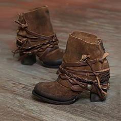 Női PU Chunky sarok Magassarkú Csizma -Val Cipzár cipő
