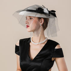 e98f6d677bc ... Ladies  Elegant Eye-catching Nice Fancy Cambric With Tulle Fascinators  ...