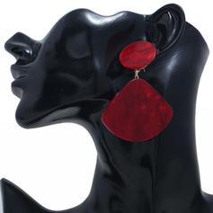 Simple Alliage Acrylique avec Acrylique Femmes Boucles d'oreilles (Lot de 2)