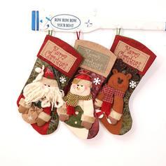 Boże Narodzenie Pończochy Tkanina Dekoracje świąteczne