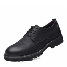 Men's Modern Flats Real Leather With Lace-up Modern