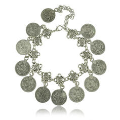 Exótico Bohemio Aleación con Moneda Tobilleras