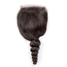 "4""*4"" Loose Human Hair Closure (Sold in a single piece)"
