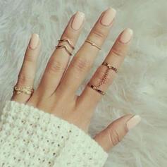 Unic rafinat Elegant Aliaj Seturi de bijuterii Inele (Set of 5 pairs)